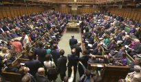 Imgen cenital del parlamento británico
