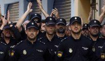 Efectivos de la Policía Nacional destinados a Cataluña para impedir el 1-O hospedados en el hotel Mont-Palau de Pineda