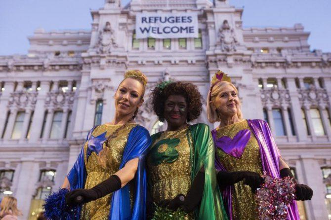 Las reinas magas llegan al Ayuntamiento de Madrid