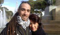 Rodrigo Lanza y su madre.