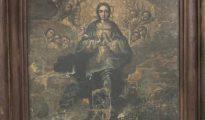 El cuadro de la Inmaculada que falta en el conjunto de obras trasladadas al Monasterio de Sijena
