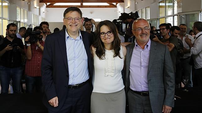 Ximo Puig, Mònica Oltra y Antonio Montiel, líderes del tripartito valenciano..,