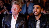 Boris Becker, junto a su hijo Noah, en una imagen de 2012