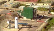 Imagen aérea de la planta de biomasa ubicada en la localidad segoviana de Cuéllar.