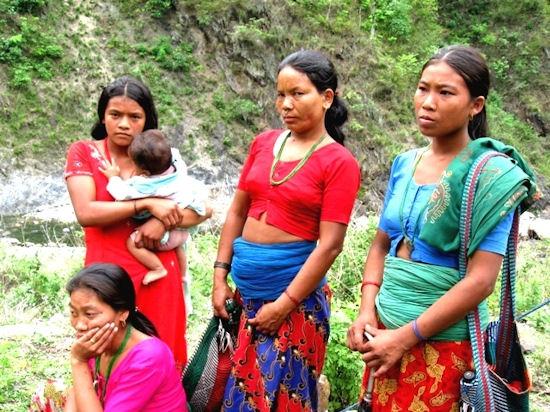 Mujeres nepalíes.