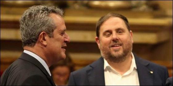 Oriol Junqueras y Joaquín Forn.