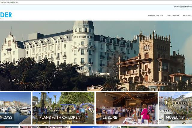 Portada de la nueva web de turismo de Santander.