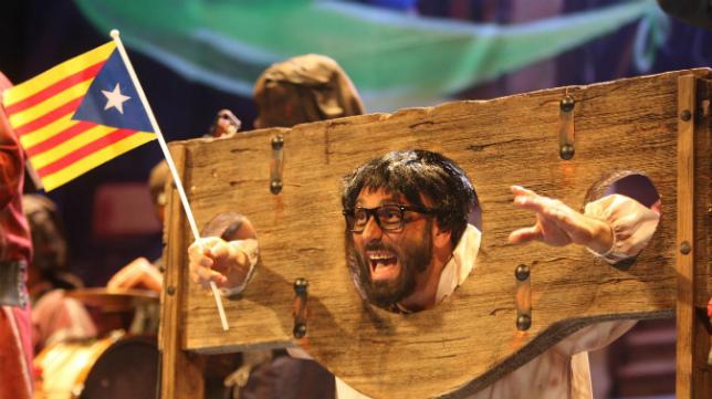 Carles Puigdemont, protagonista del Carnaval de Cádiz.