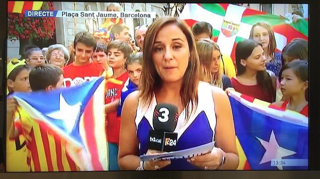 TV3 utilizó a niños para informar sobre la Diada
