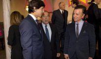 Curro Romero, con Ortega Cano y Roca Rey