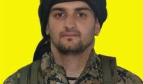 Samuel Prada, en una imagen difundida por las milicias kurdas.