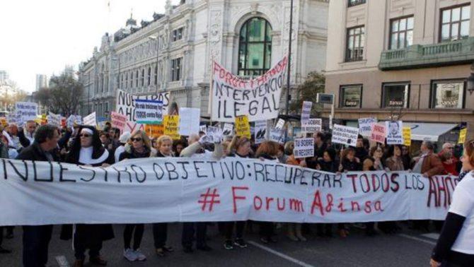 Manifestación de los afectados por la estafa de Afinsa