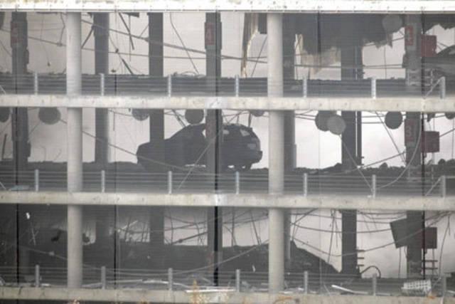 Imagen del atentado de la T-$, en Madrid