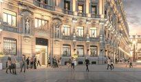 Recreación de la entrada del futuro Hotel Four Seasons del complejo Canalejas, que deberá abrir en 2019