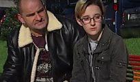 Ekai Lersundi, con su padre, apareció a fnales de noviembre en un informativo de La Sexta para dar su testimonio
