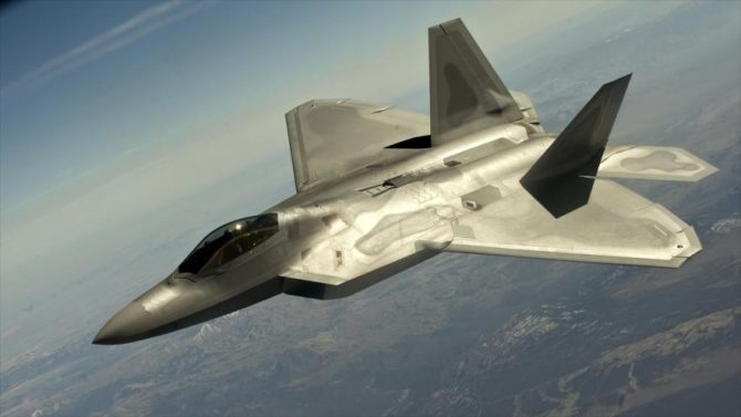 El avión de combate estadounidense F-22.