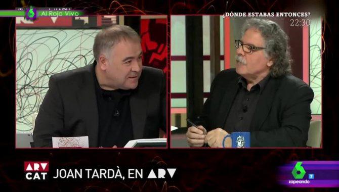 Antonio García Ferreras (La Sexta) y Joan Tardá (ERC)