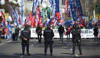 Protesta de este sábado en Madrid.