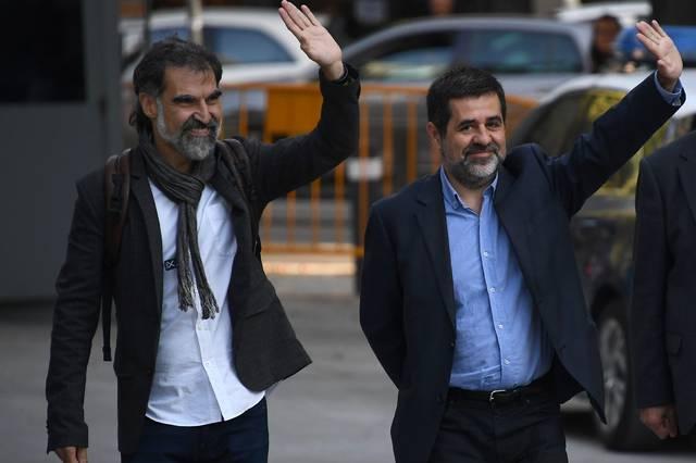 Sànchez y Cuixart, a las puertas de la Audiencia Nacional, en una foto de archivo