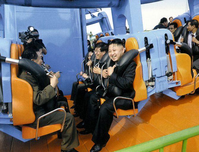 Kim Jong-un, en un parque de atracciones.