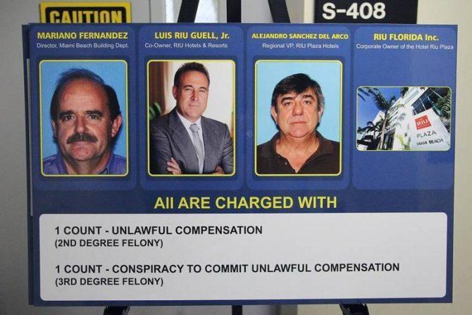 Las fichas policiales de Mariano Sánchez, Luis Riu y Alejandro Sánchez del Arco. MIAMI HERALD