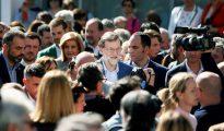 En la imagen, Rajoy, en el congreso nacional de pymes y autónomos celebrado en Elche.