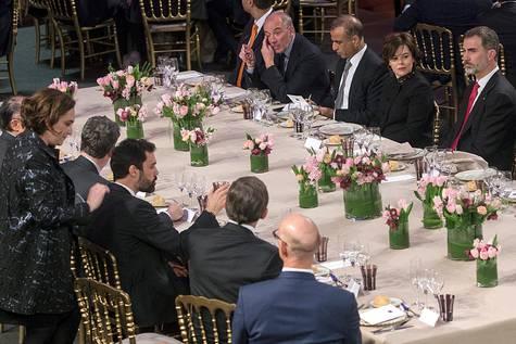 El Rey durante la cena por la inauguración del Mobile World Congress.