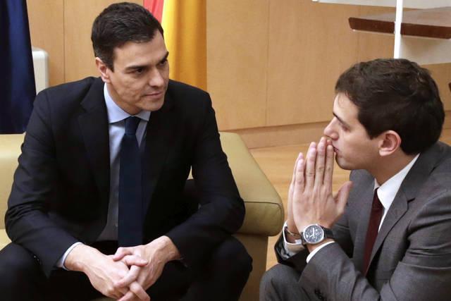 Pedro Sánchez y Albert Rivera, en una imagen de archivo