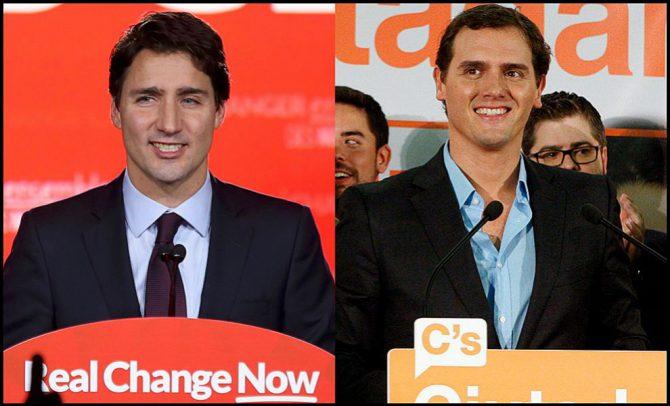Trudeau y Rivera