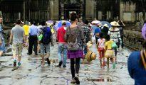 Turistas en Camboya