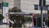 Puerta de urgencias infantil del hospital Materno Infantil de Málaga