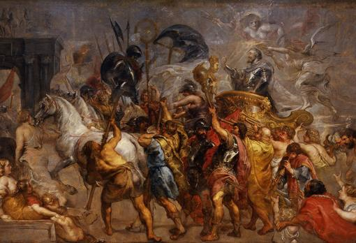 Entrada triunfal de Enrique IV en París, por Rubens.
