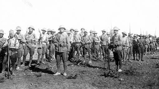 Los legionarios, en Melilla (agosto de 1921)