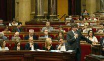 Carles Puigdemont, en el Parlamento catalán.