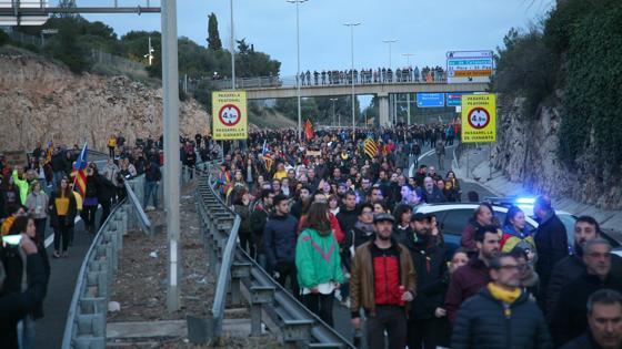 Cortes de carretera en Cataluña.