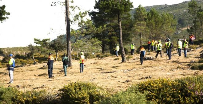 Voluntarios participan en el dispositivo de búsqueda de Diana Quer.