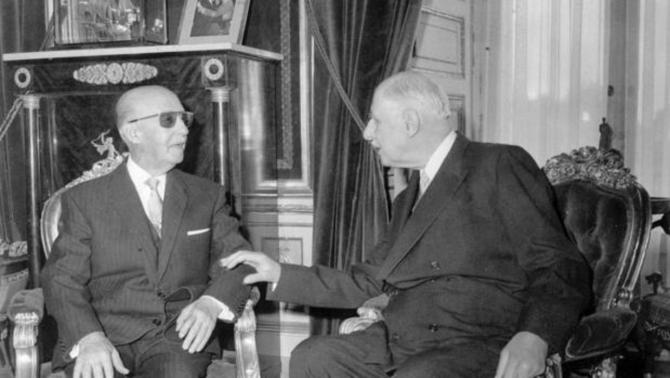 Entrevista entre De Gaulle y Franco en el Palacio del Pardo
