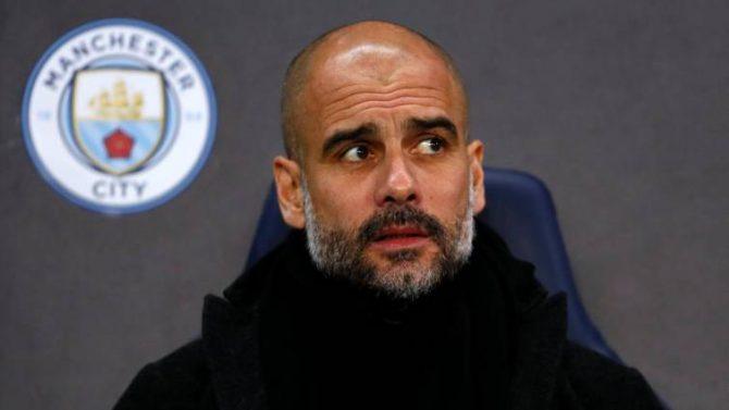 El entrendor del Manchester City Josep Guardiola