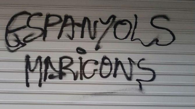 Pintada en Cataluña.