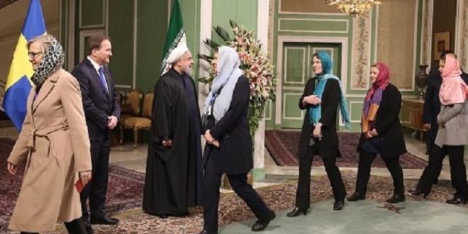 Ministras feministas suecas en Irán.