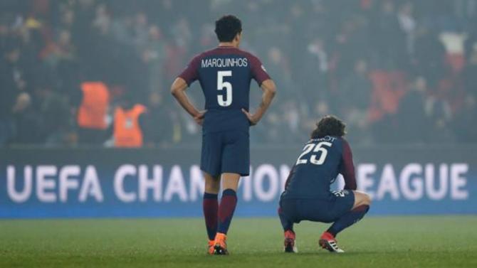 Marquinhos y Rabiot, tras el PSG-Real Madrid de Champions