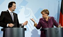 Rajoy y Merkel.