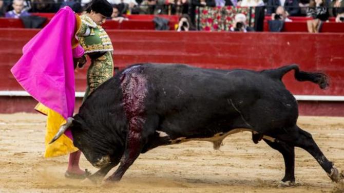 Andrés Roca Rey cortó la respiración en un quite por saltilleras