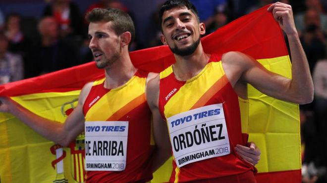 Álvaro de Arriba y Saúl Ordóñez, tras la final