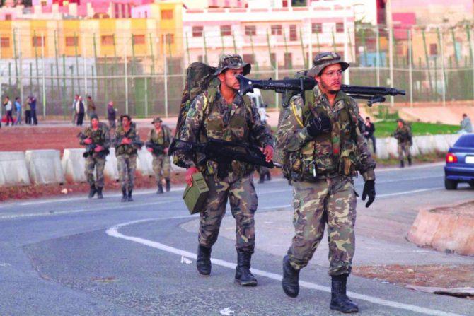 Soldados en Melilla.