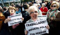 Manifestación en defensa de las pensiones públicas.