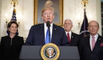 Donald Trump, en el momento de anunciar los aranceles a China