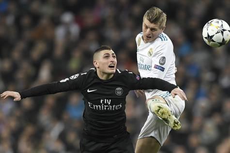 Imágenes del partido Real Madrid-PSG de ida en el Bernabéu.