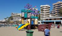 Una de las zonas de juego infantiles de Marbella