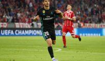 Asensio tras marcar el segundo gol del Madrid.